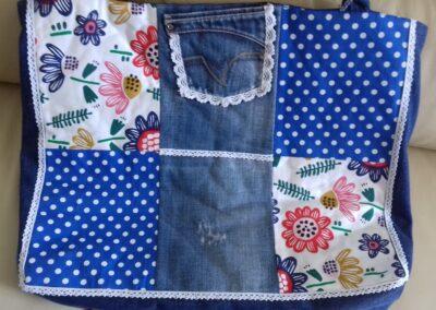 Grand sac jeans fourré tout