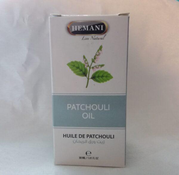 huile végétal de pachtouli 30ml hemani