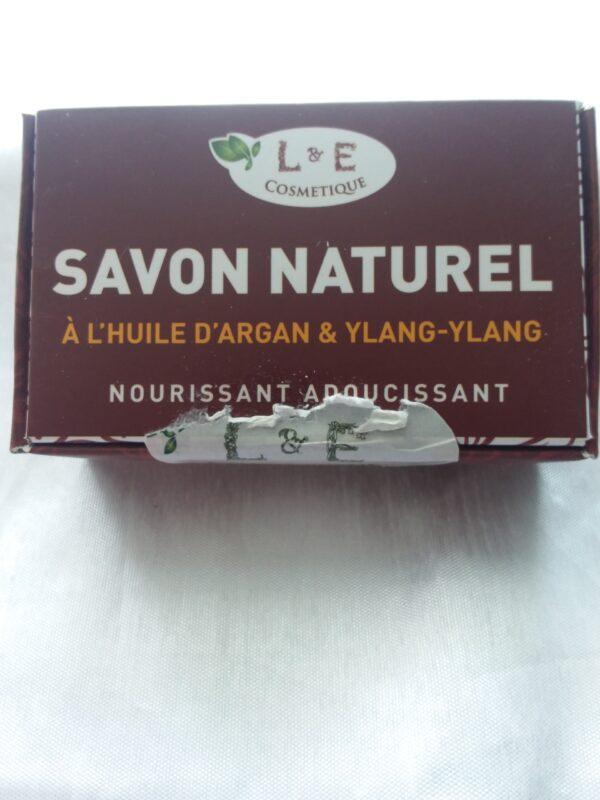 savon 100gr a l'huile d'argan rose et ylang-ylang
