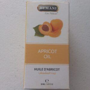 huile végétal d'abricot 30ml hemani 100% naturelle