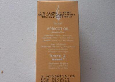 huile d'abricot hemani 30ml